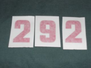 Ford 292 Y Block 2 9 2 Engine ID Decals Set New Red