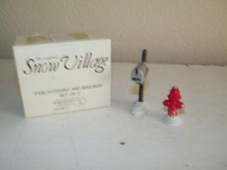 Department 56 Dept Snow Village Fire Hydrant and Mailbox & w/ Box 5103