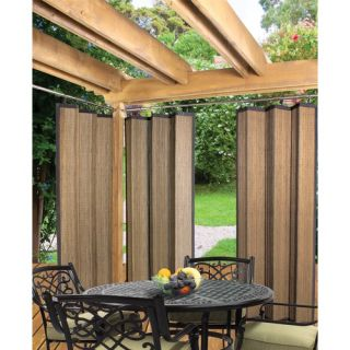 Versailles Home Fashions Indoor Outdoor Bamboo Ring Top Panel in