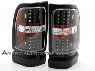 Depo Pair Euro Style Black Altezza Tail Lights W/ LED 94 02 Dodge Ram