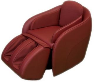 Red Hidden Legrest Full Body Massage Chair w Foot Reflexology