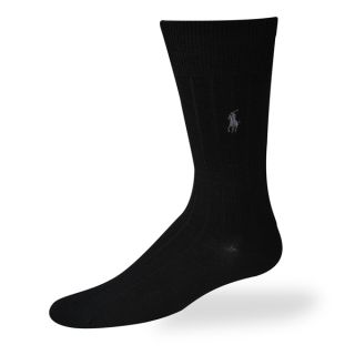 Polo Ralph Lauren mens socks Dress Merino Wool black 3 pairs