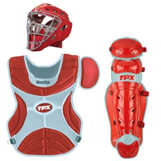 Slugger TPX Omaha OSETI Intermediate Baseball Catchers Set Scarlet