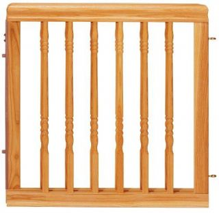 new evenflo home decor wood gate natural oak