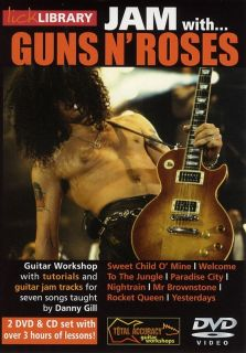 Jam with Guns N Roses Lick Library Guitar 2 DVDs CD