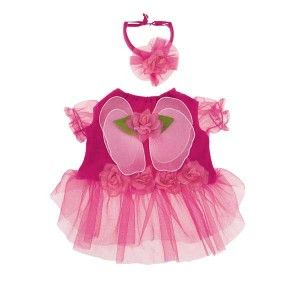 Dog Flower Fairy Princess Halloween Costume Pink Pet Clothes XS s M L