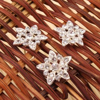 Charming Hairpins Shining Alloy Rhinestone Flower Hair Pins