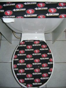 nfl san francisco 49ers fabric toilet seat cover set