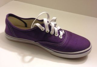 Vans Authentic Purple Lace up Shoes ladies size 8.5 mens 7. NO