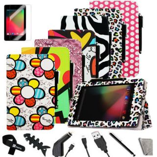 Leather Stand Folio Case Cover for Kindle Fire Stylus Flm Multi Color