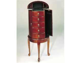 Jewelry Box Armoire in Cherry Wood Finish 41H