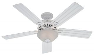 Hunter Beachcomber 52 Ceiling Fan Model 22462 in White with