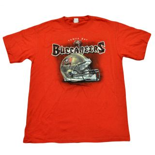 NFL Football Helmet Licensed Tampa Bay Buccaneers Shirt Mens Adult