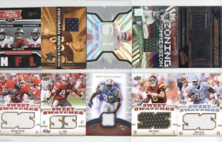 HUGE FOOTBALL AUTOGRAPH AUTO JERSEY MEMORABILIA CARD LOT 50 TOTAL
