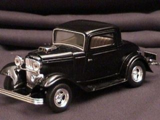 FORD 1932 coupe 32 die cast scale model hot rod toy car black
