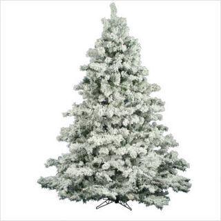 Vickerman Flocked Alaskan 90 Pine Artificial Christmas Tree A806375
