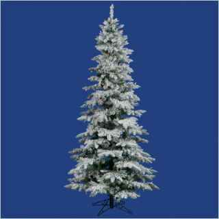 Flocked Utica Fir 78 Artificial Christmas Tree w Multicolored LED