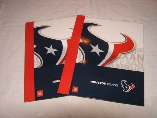 NFL Houston Texans 2 School Binder Folders NEW