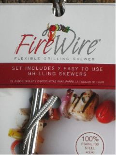 Fire Wire Stainless Steel Flexible Grilling Skewers
