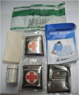 Swedish Military 1st Aid Kit Refill New in Bag