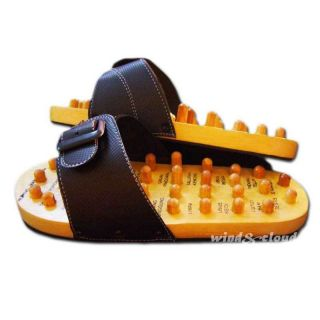 Acupuncture Wooden Foot Massager Massage Sandals Shoes