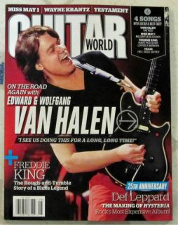 GUITAR WORLD August 2012 VAN HALEN Edward & Wolfgang 25th Ann DEF