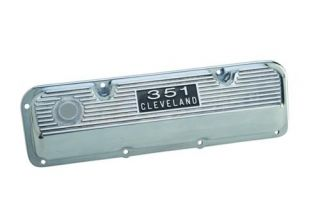 NEW FORD RACING 351 CLEVELAND POLISHED ALUMINUM VALVE COVERS #M 6582