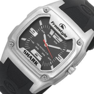 Freestyle Analog Shark Mens New Watch Black Rubber Band