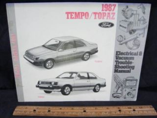 1987 Ford Tempo Mercury Topaz Electrical ETM Manual