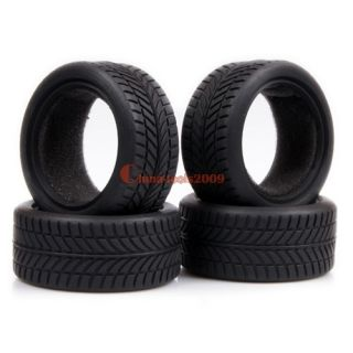 Road Racing Car 26mm Rubber High Grip Flat Run Tires Tyre 6085