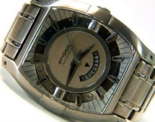 Fossil Men Automatic Gray ion Plated Watch FS4196