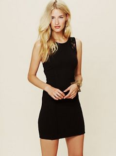 Authentic Free People Cut Out Bodycon Black Dress Medium M Lace $128