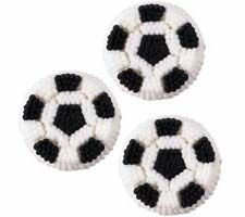 Wilton Soccer Ball Edible Icing Decoration Cake Cupcake