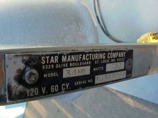 Star Manufacturing 34HL Food Warmer Heat Lamp 3 Bulb Commercial
