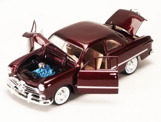 Ford Coupe Burgundy Diecast Model Car 1 24 Scale Classic Ford Model