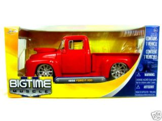 Jada 1956 Ford F 100 1 24 Red Diecast Car