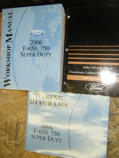 2006 FORD F 650 F 750 SUPER DUTY TRUCK FACTORY SERVICE MANUALS SHOP