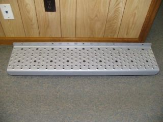 Pair M2 Freightliner Semi Truck Gray Metal Steps Boards