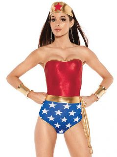 Fredericks of Hollywood Sexy Super Hero Wonder Woman Halloween Costume
