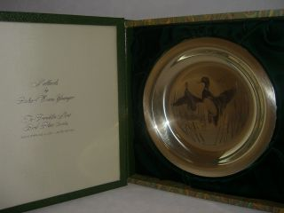 Franklin Mint Solid Sterling Silver Plate Mallards J 91
