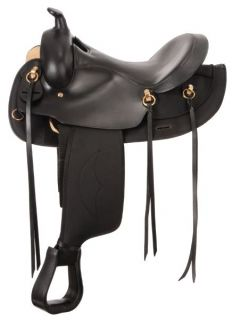 King Series Synthetic Gaited Round Trail Saddle 15 1 2