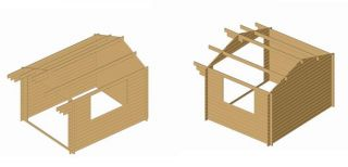 All natural wood garden storage shed kit, play, pool house, cabana