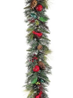 other items 6 pre decorated artificial cardinal christmas garland