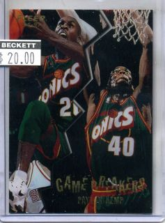 1996 97 Shawn Kemp Gary Payton Fleer Game Breakers RARE Insert $20 NBA
