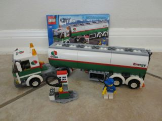 Lego City Tank Truck Gas Fuel Pump Set 3180 Complete with Instructions