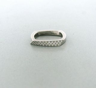 Tiffany Co Frank Gehry Torque 18K White Gold Diamond Ring $2600