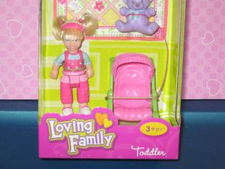 New Loving Family doll house figure Toddler Sister w/ Stroller Blanket