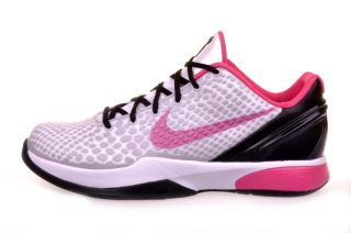 Kobe VI 6 GS White Spark Pink Girls Basketball Shoes 429913 101