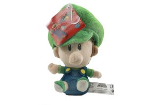 Authentic Brand New Global Holdings Super Mario Plush   5 Baby Luigi