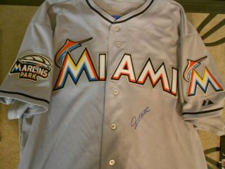 Giancarlo Mike Stanton Authentic Miami Marlins Signed Auto Jersey COA